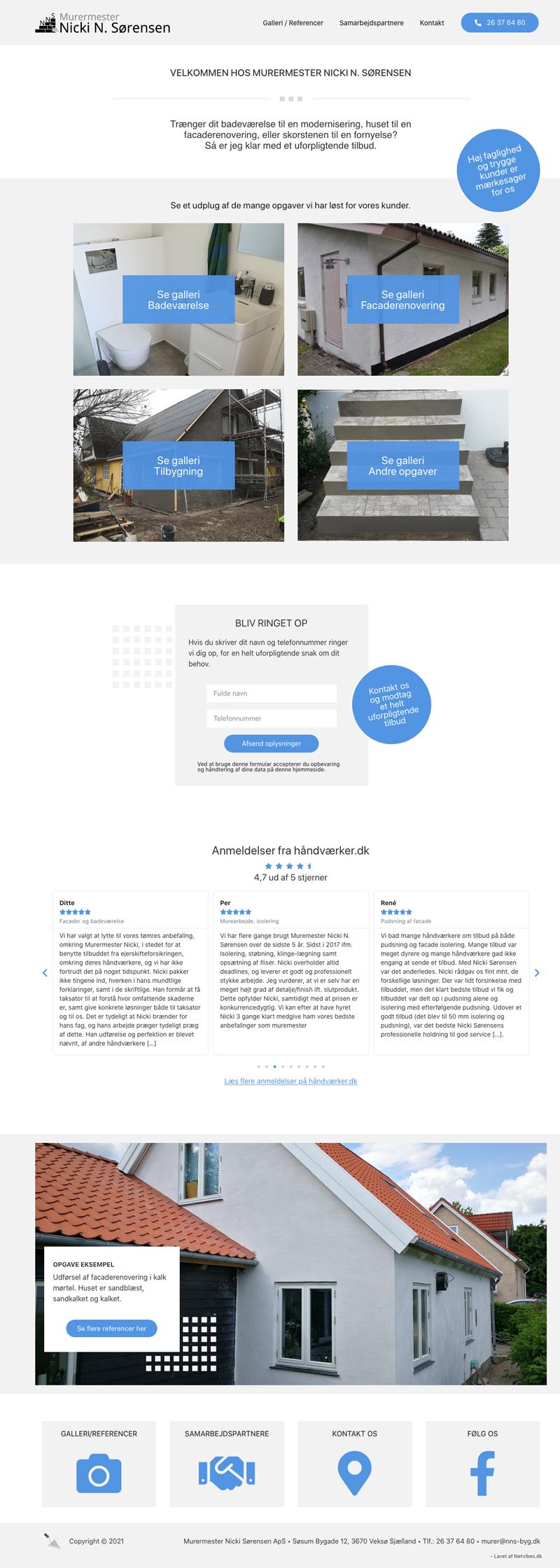 WordPress hjemmeside cases